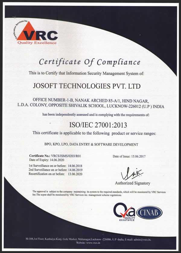 Josoft Technologies Pvt Ltd Our Awards Achievements